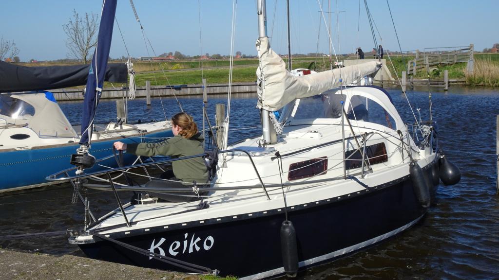Keiko ligt er weer mooi bij.
